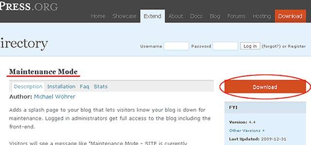 ワードプレス(Word Press)プラグイン:「Maintenance Mode」:サイトメンテナンス中を表示