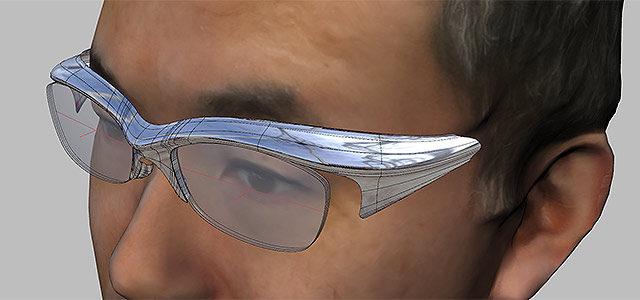 【 眼鏡のレンズの傾斜について 】3Dデータ化した頭を元に、自分専用の眼鏡を作ってみる その2